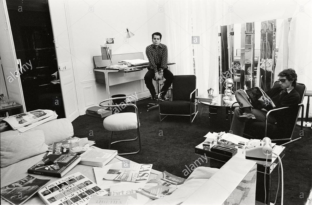 At his Chloé office in 1970.
