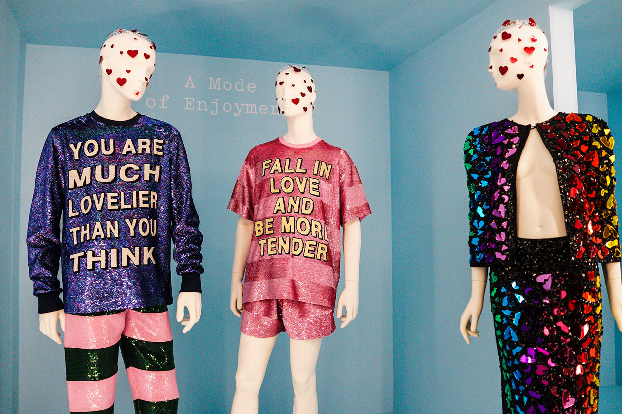 Left and center: Ashish, Fall 2017. Right: Romance Was Born, Spring 2015.