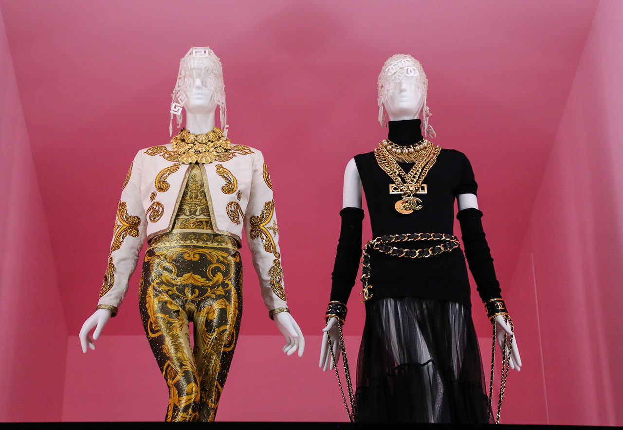 Left: Versace, Spring 1992. Right: Chanel, Fall 1991.