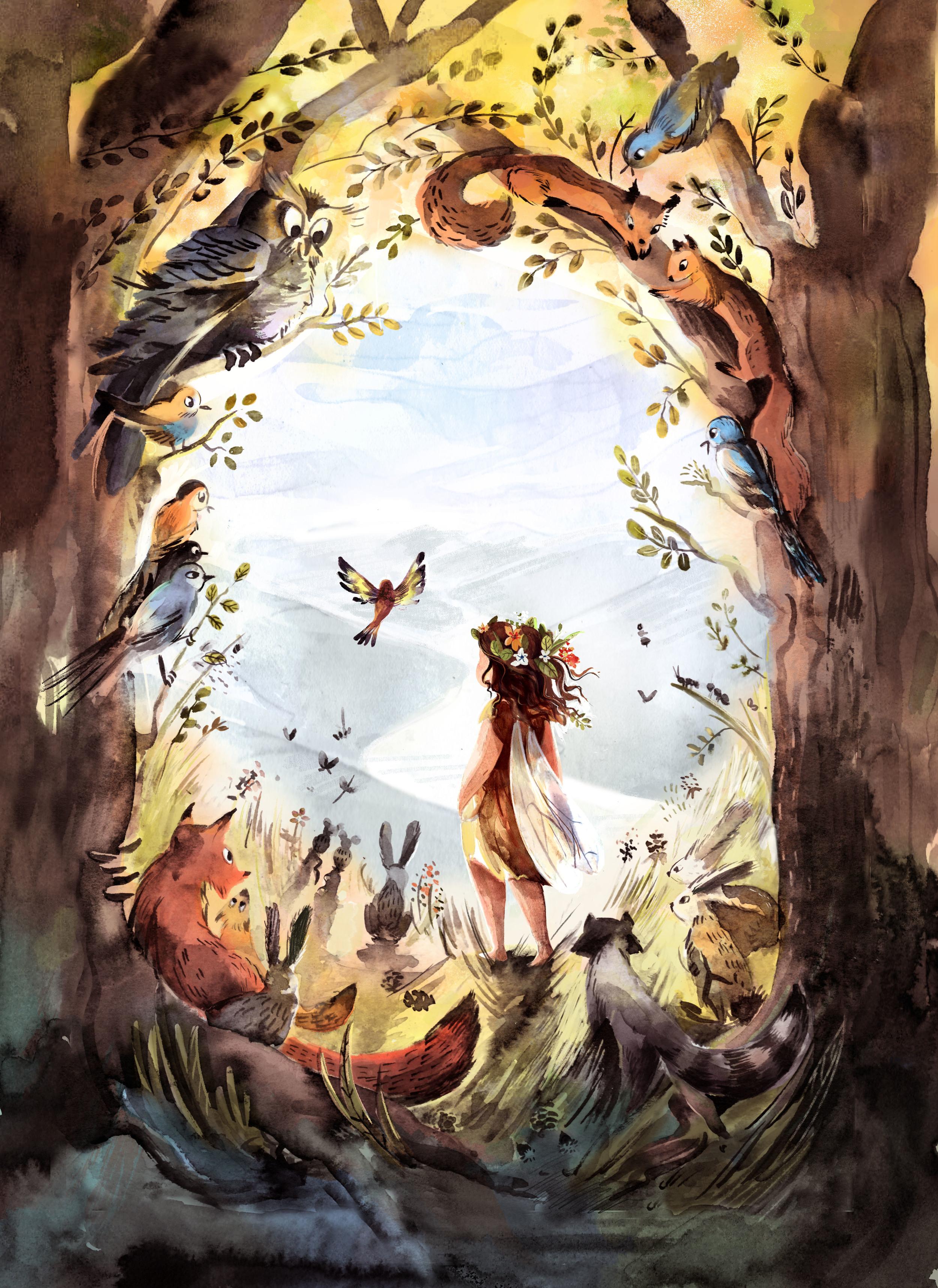 Little Raisin Cake cover illustration