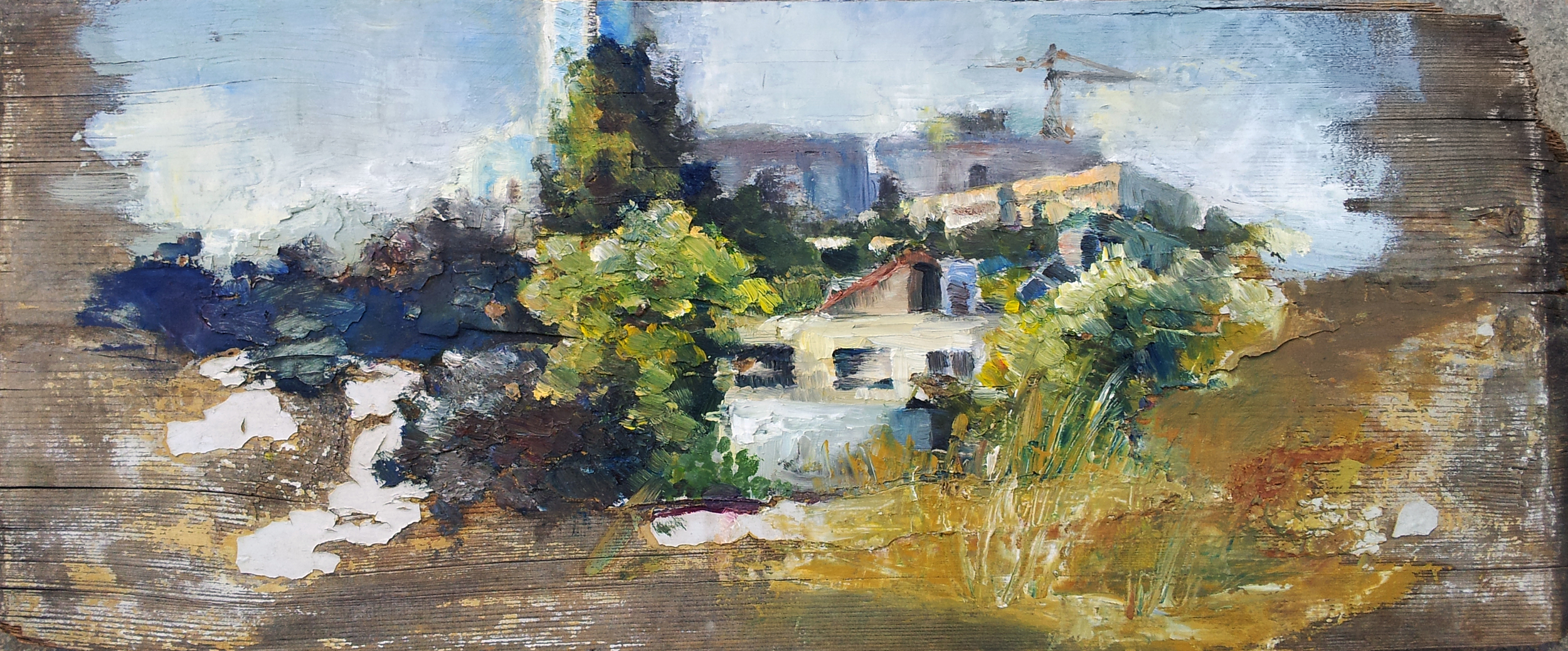 Nachlaot, Jerusalem. Oil on wood. 2014.