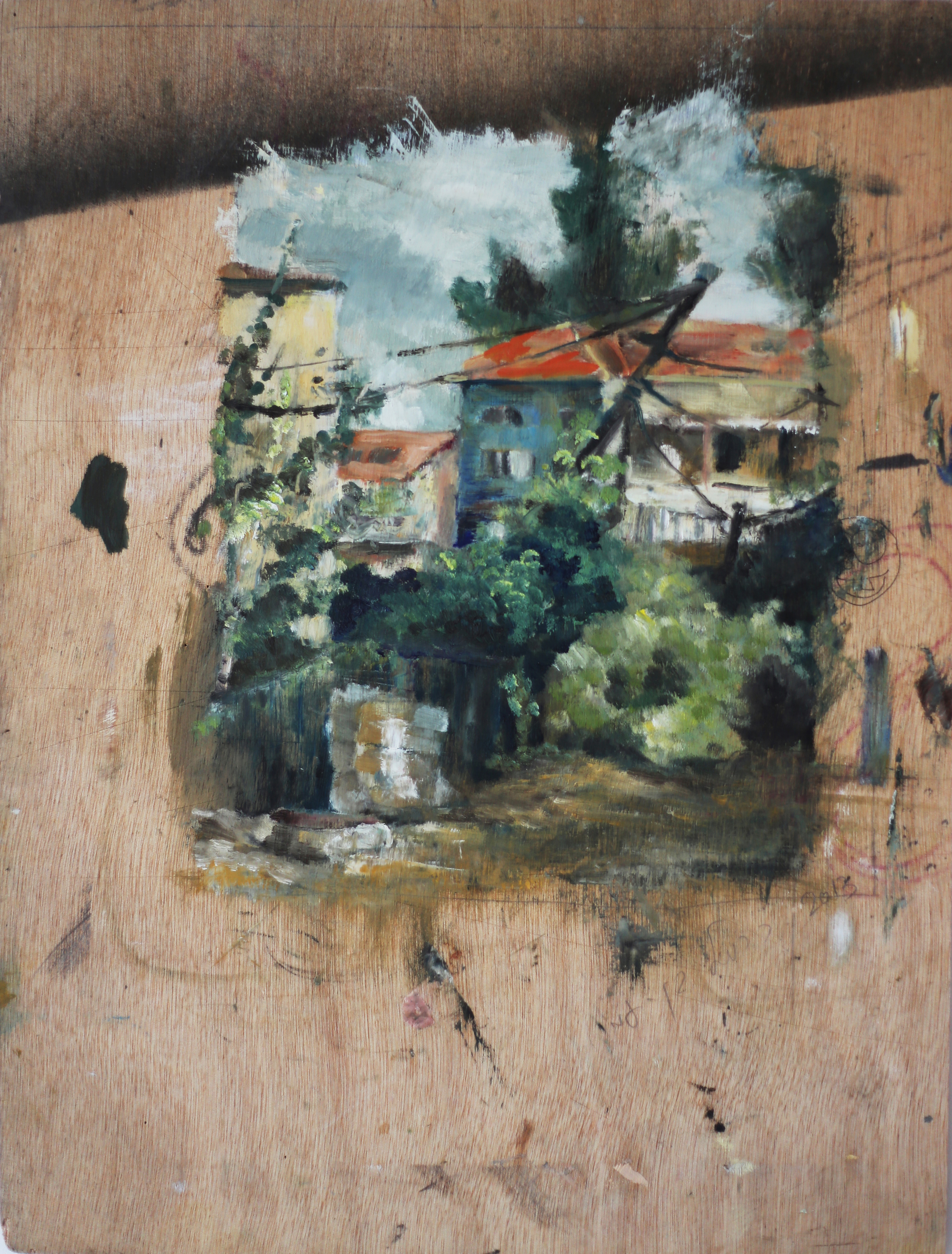 Nachlaot, Jerusalem. Oil on wood . 2013