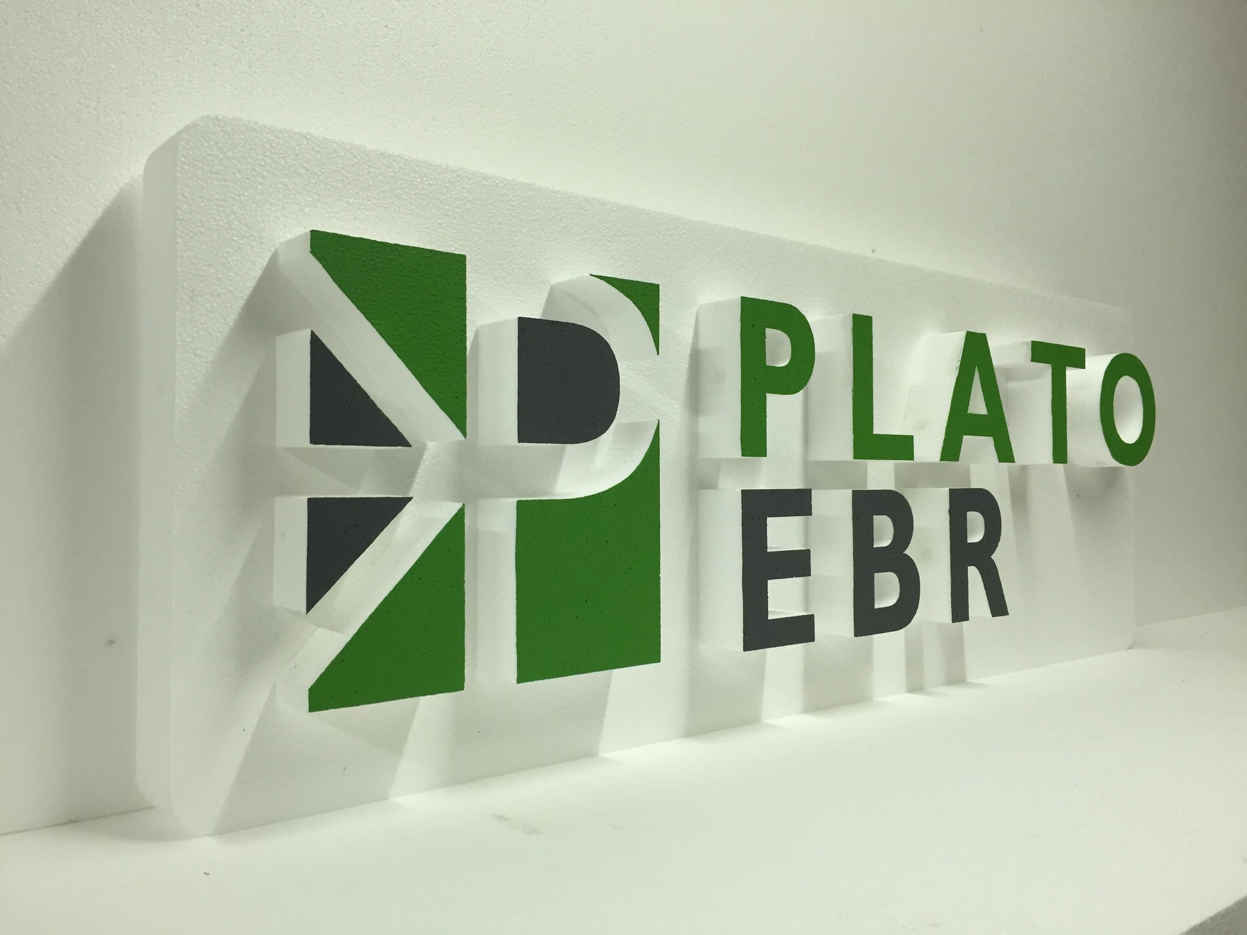 Plato EBR Polystyrene Sign