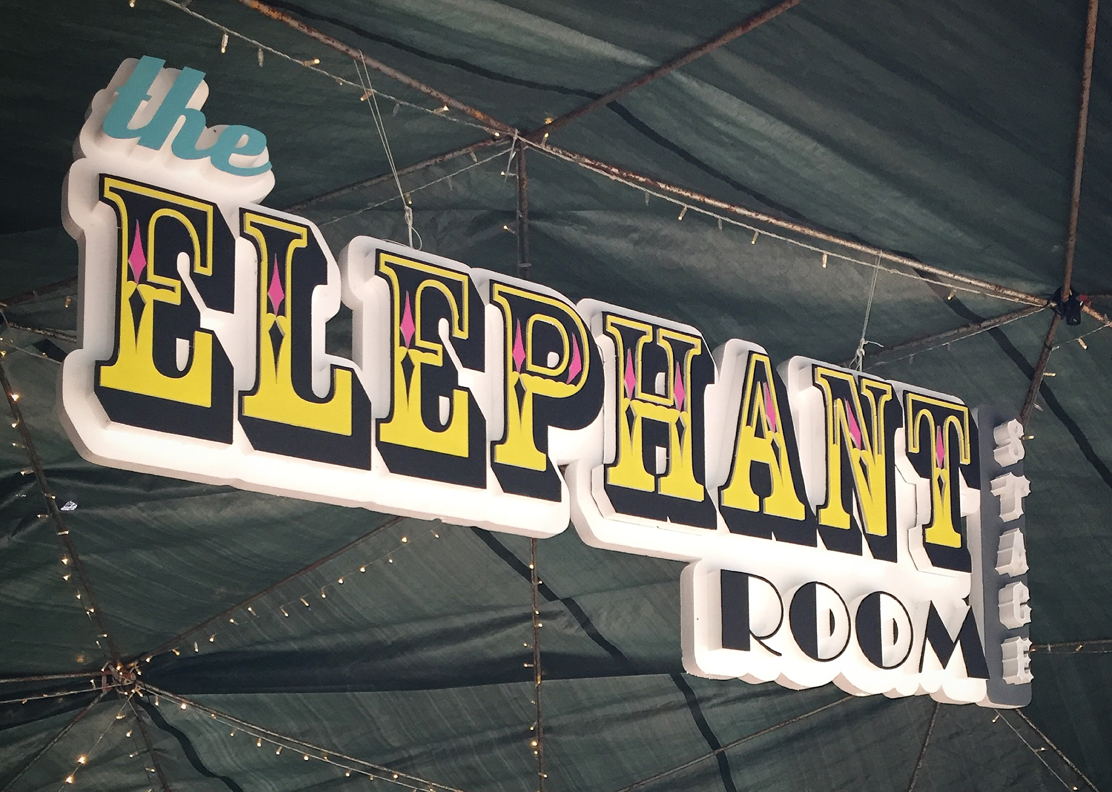 The Elephant Room 3D Sign