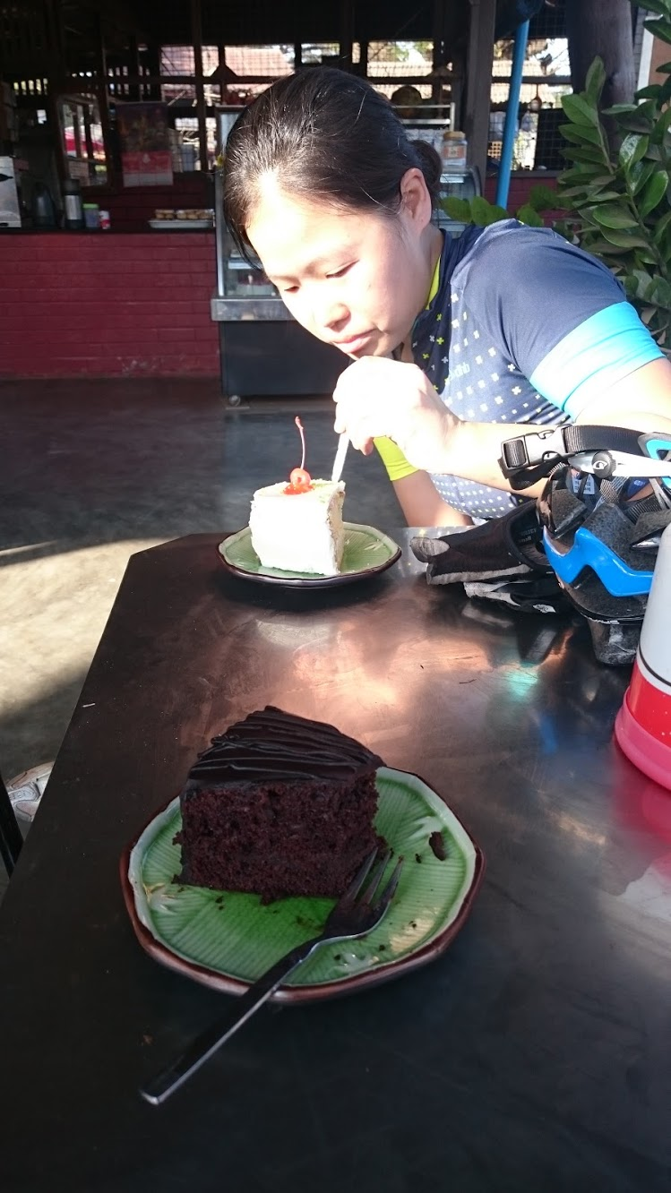 This cake may not look like a big deal to you, but after all this time in a country bereft of treats, at the end of a long ride, we assure you, it's the best you've ever tasted.