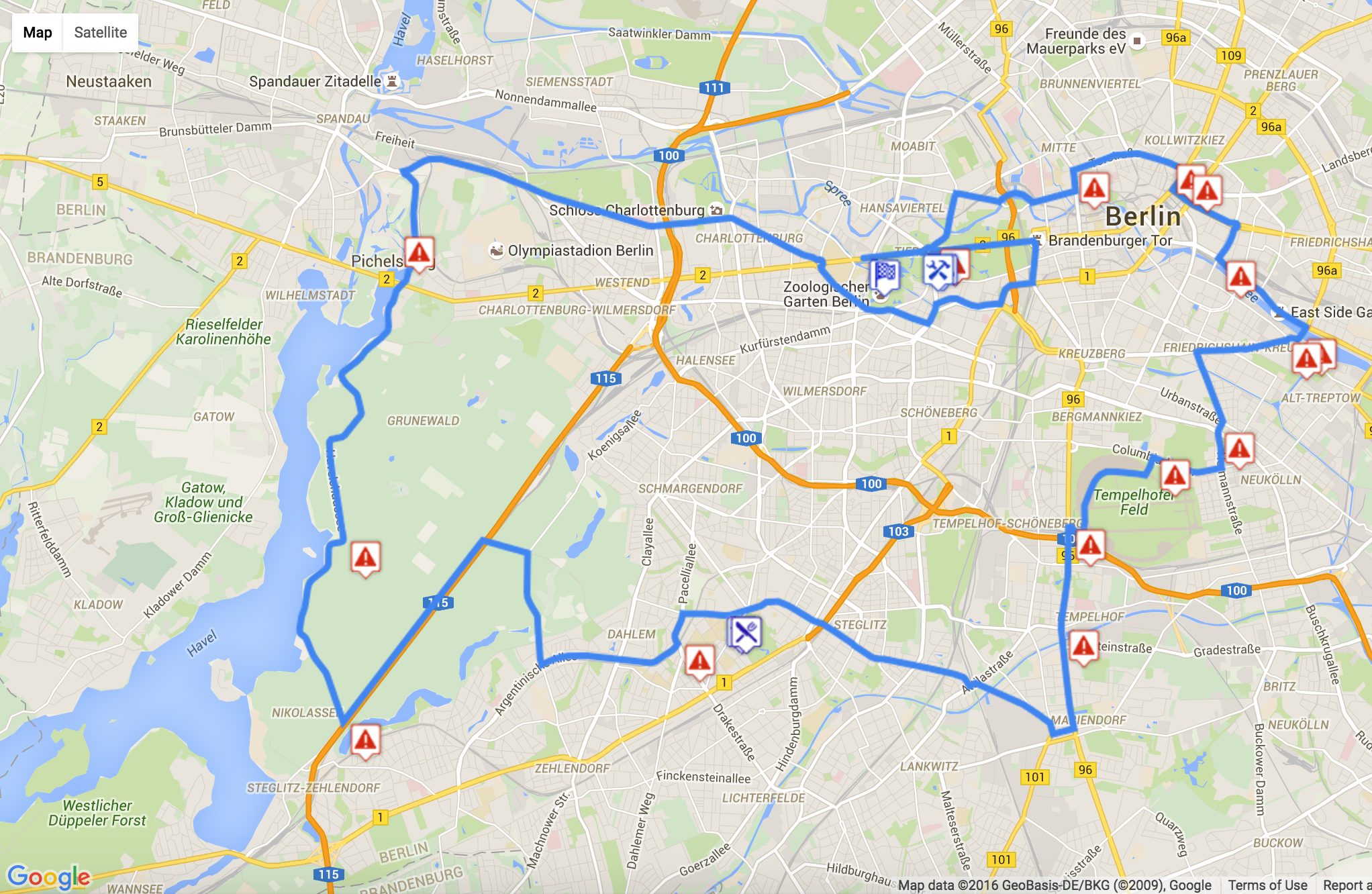 The 60km route