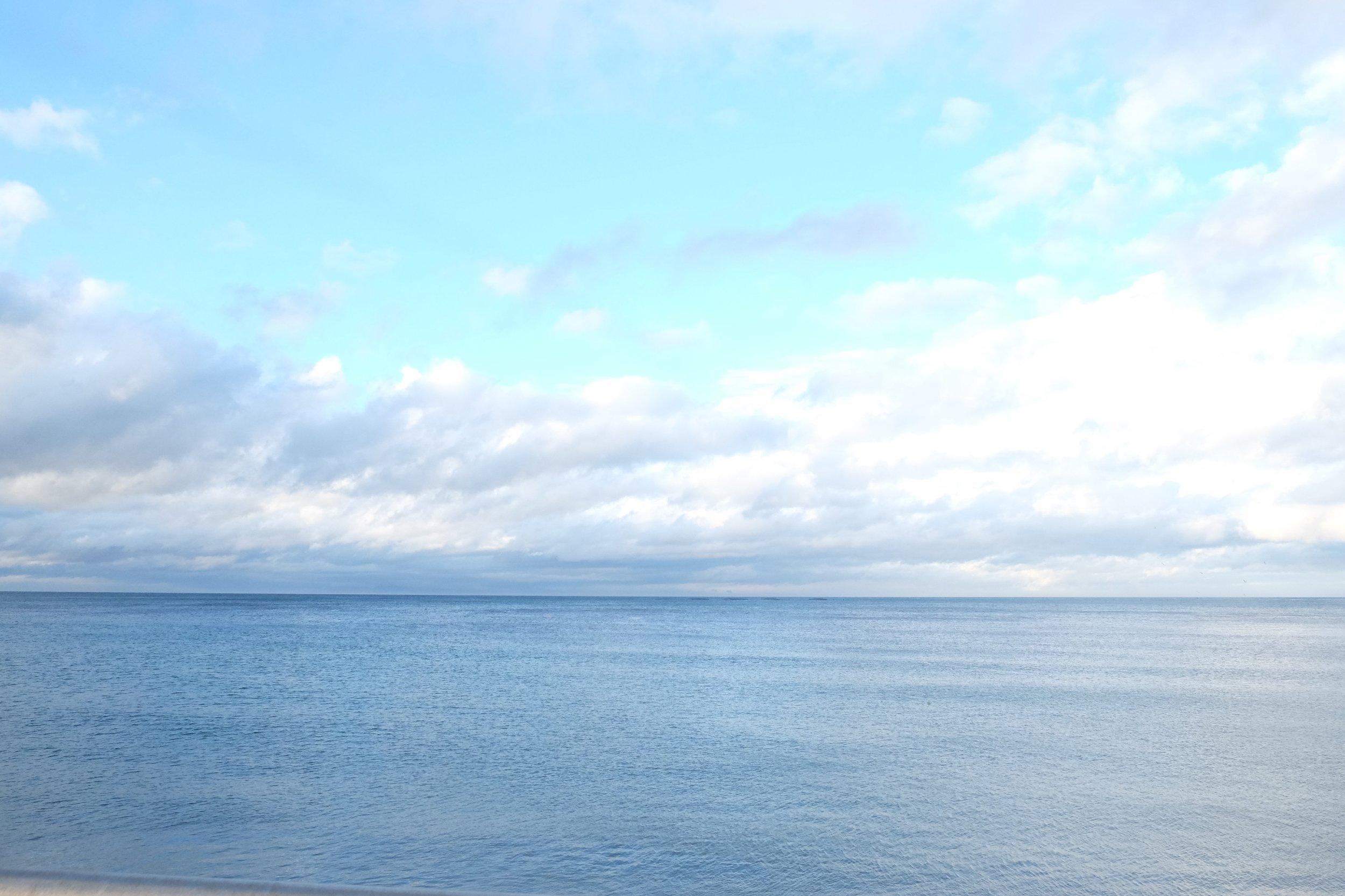 The Irish Sea. Taken when we were in Glenarm.