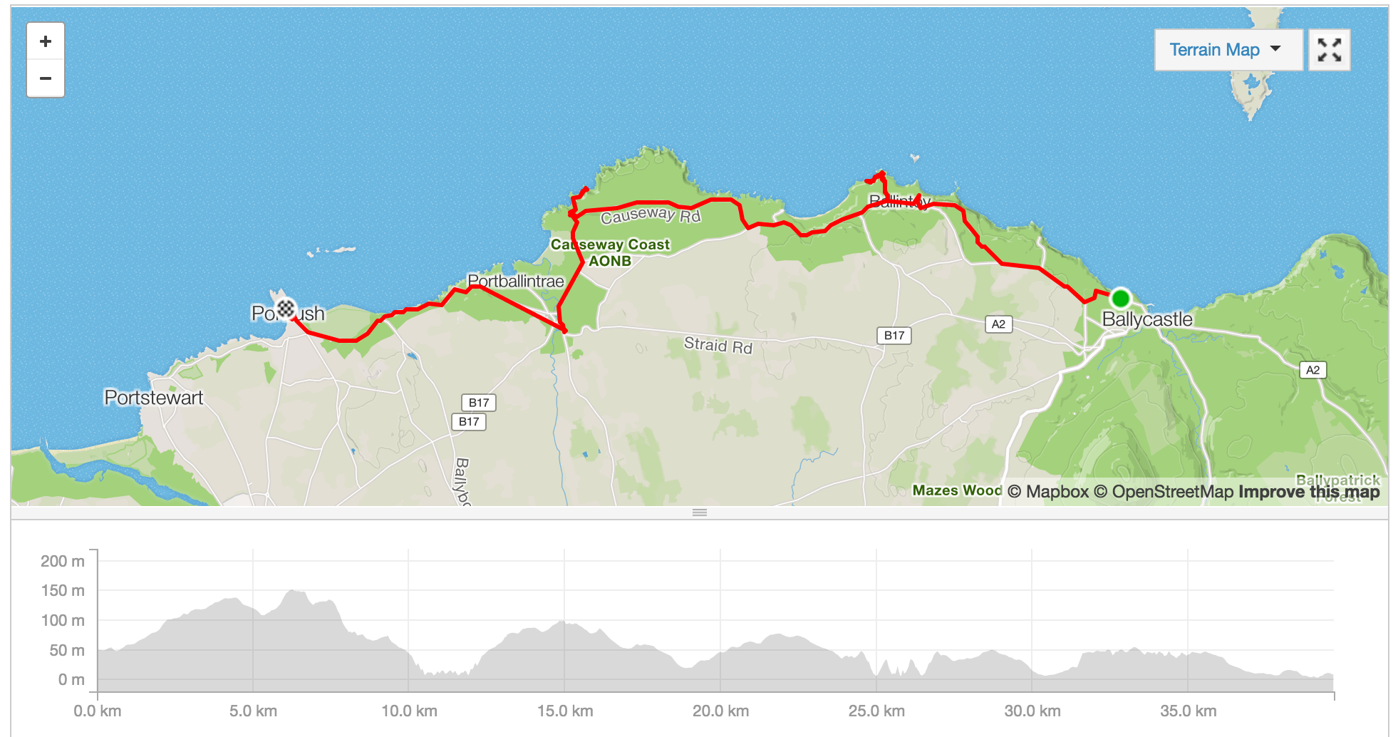 To interact with this map, visit Jess's Strava account  here .