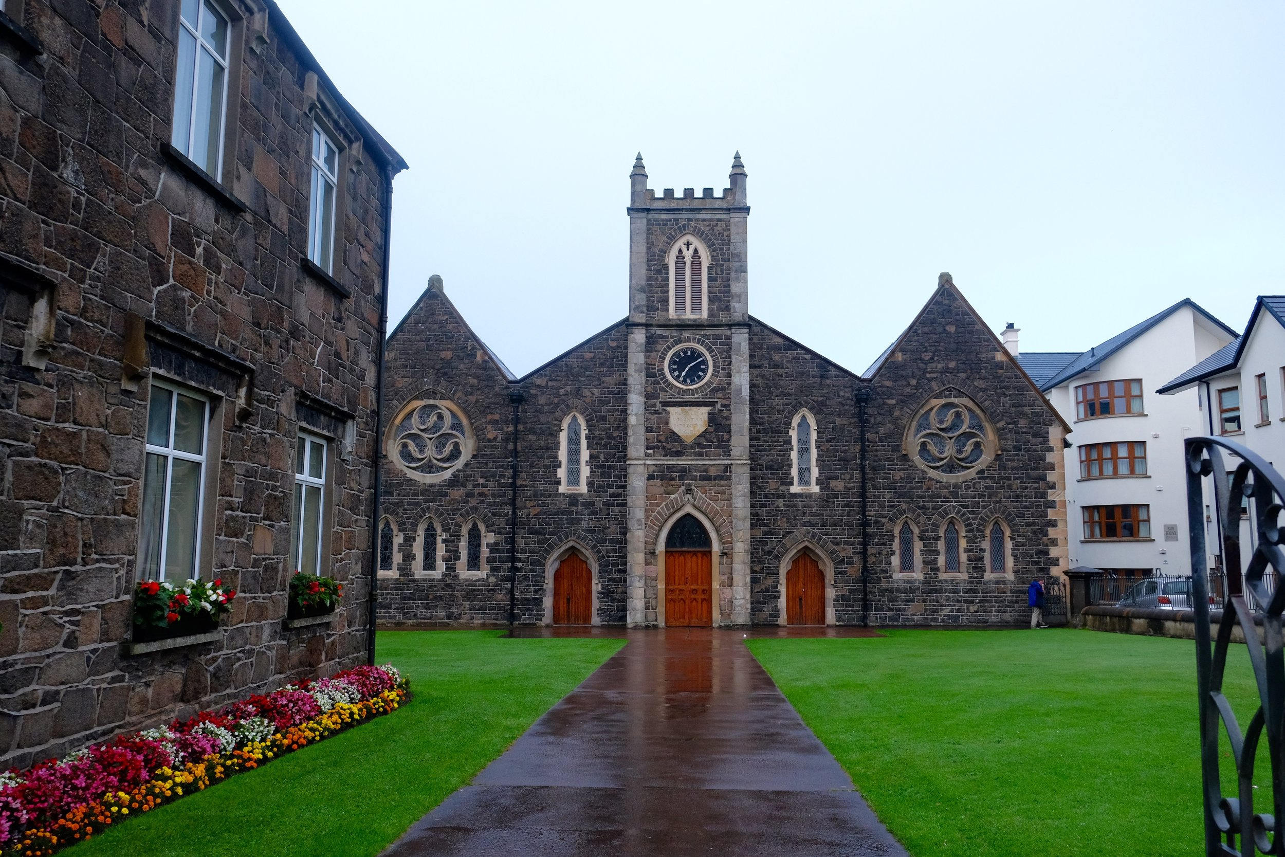 Holy Trinity Church. Placed right next to three other churches of varying origin. This is Northern Ireland.