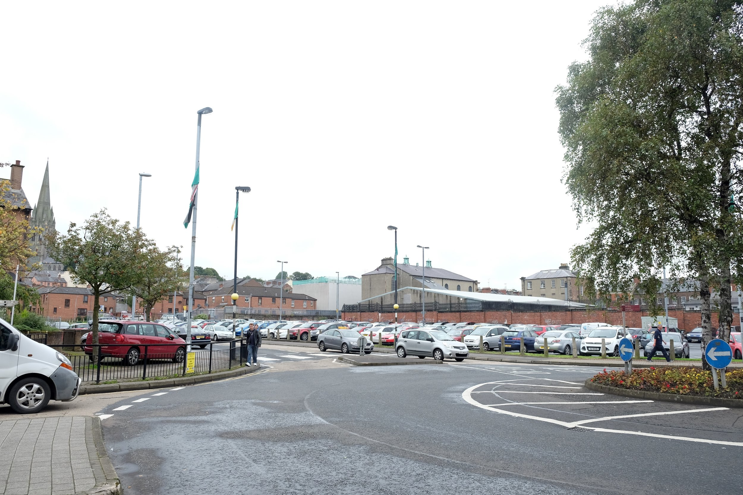 The roundabout at William Street, generally considered the start of the Bogside.