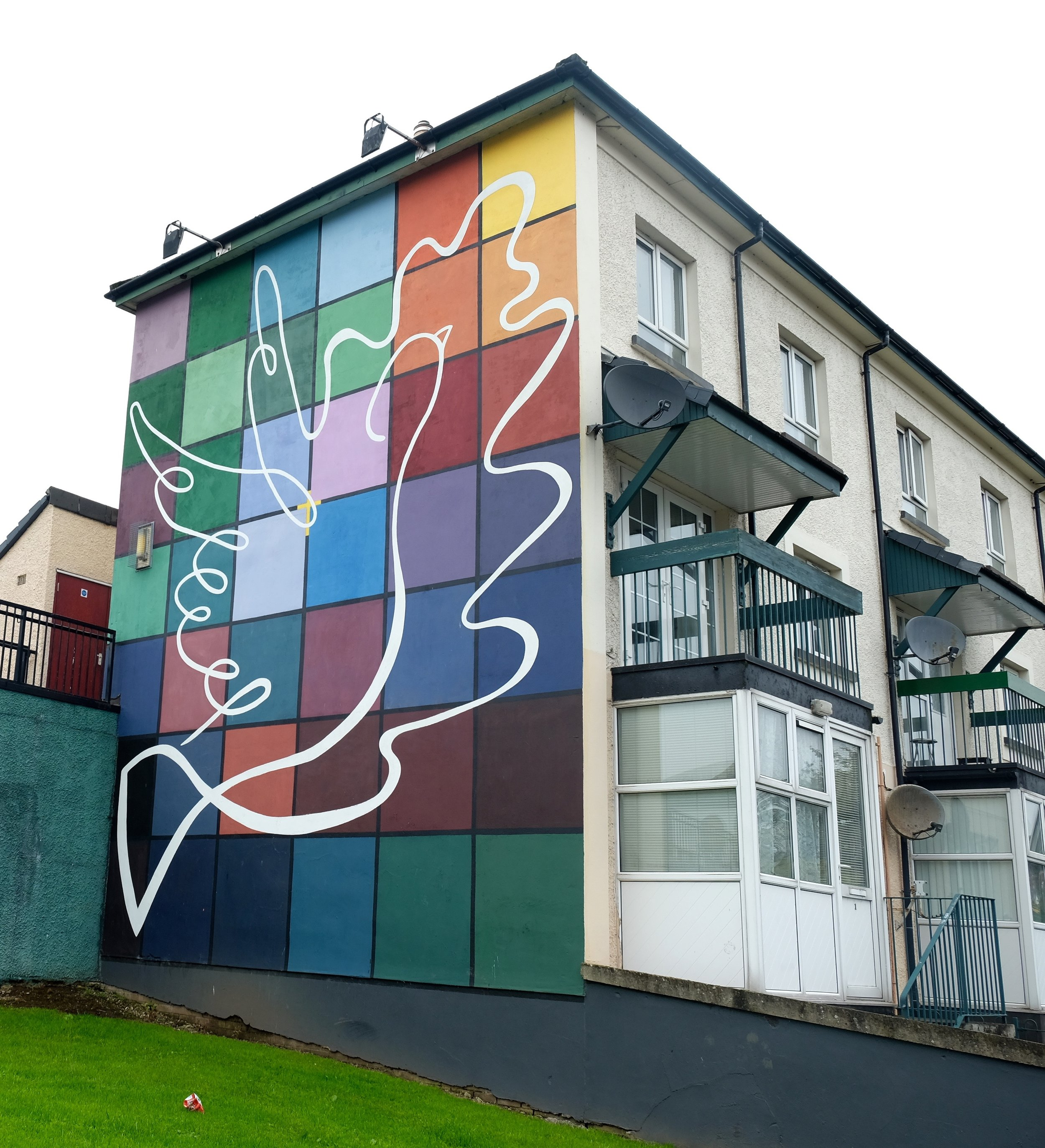 The Peace Mural - one of the more recent ones to be completed. Finished and unveiled in July 2004.
