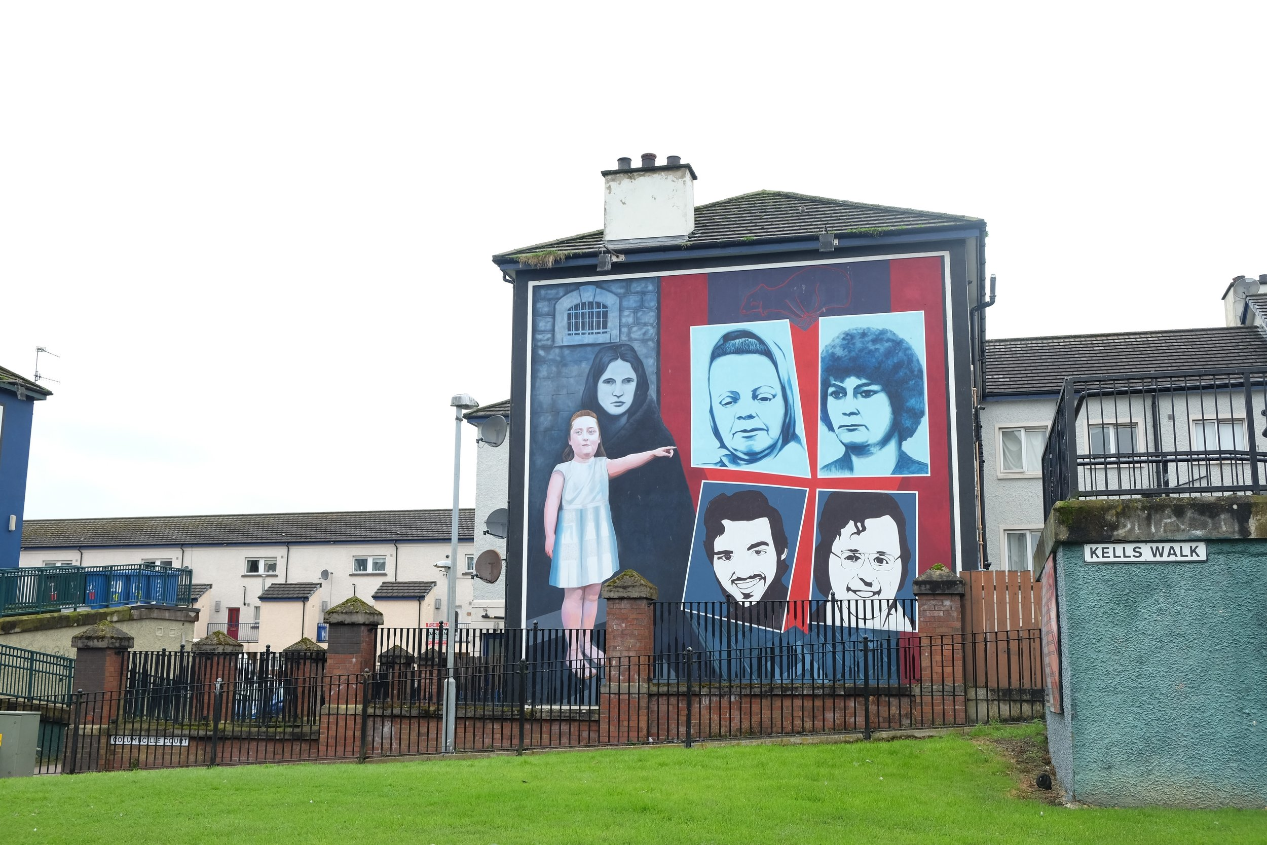 This used to be The Hunger Strike Mural, before it was vandalised and repainted over.