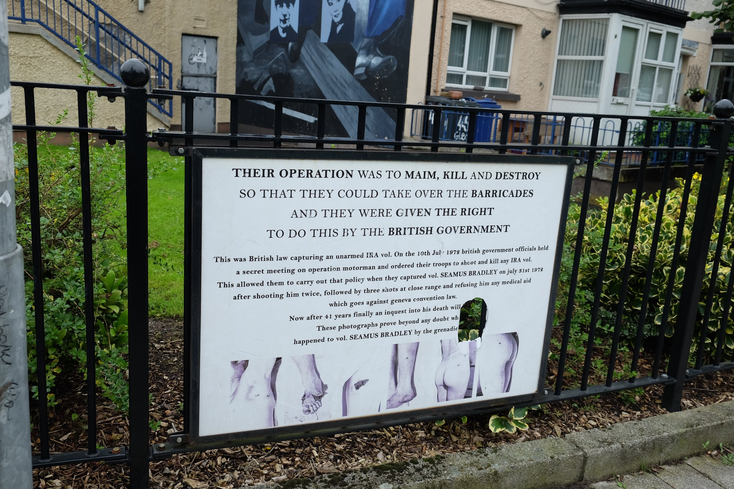 It was rumoured that the police had been the ones who had desecrated this memorial.