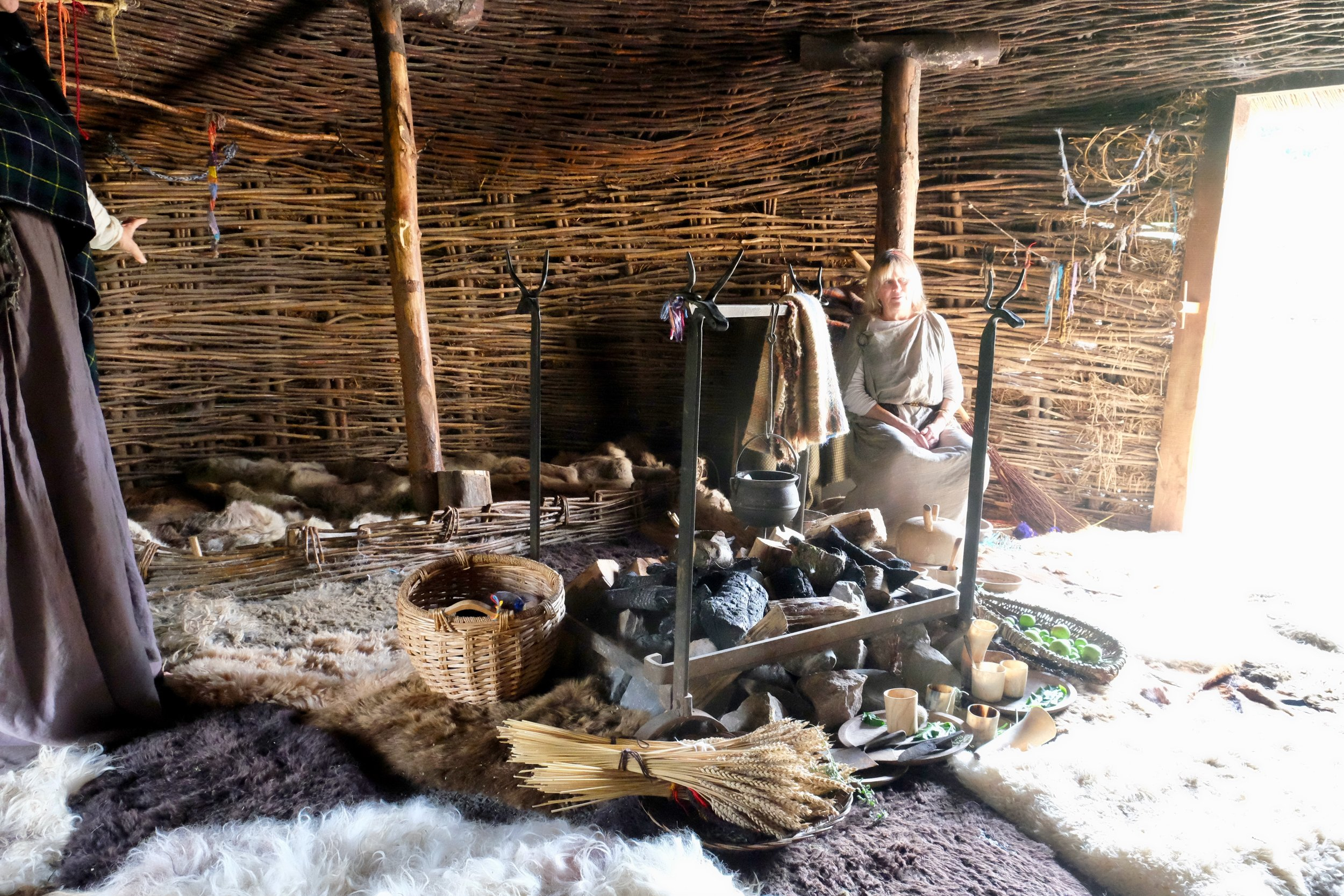 The inside of a traditional mound house, where a family of up to 8 could live.