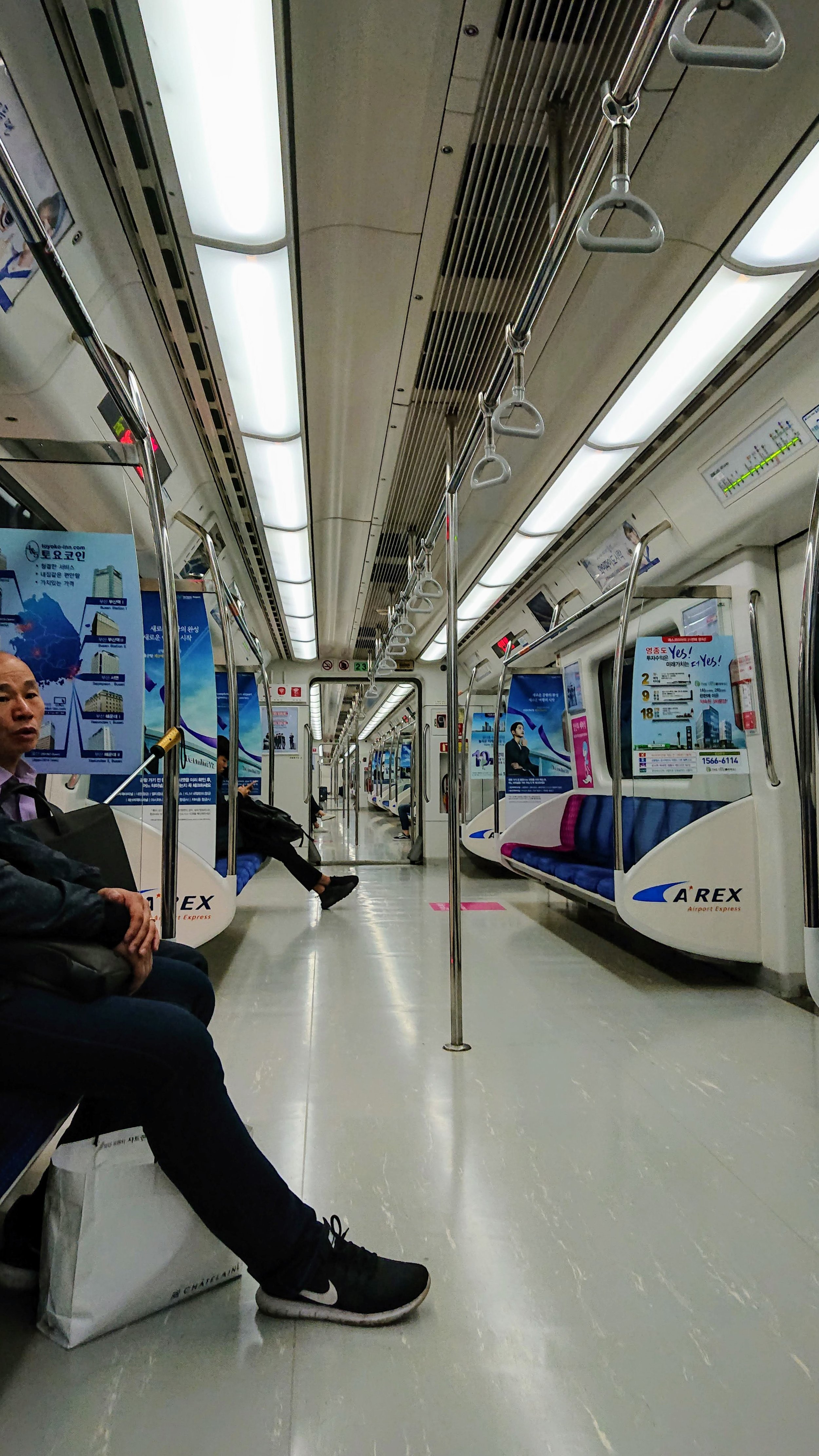 Surprisingly uncrowded train to Seoul.
