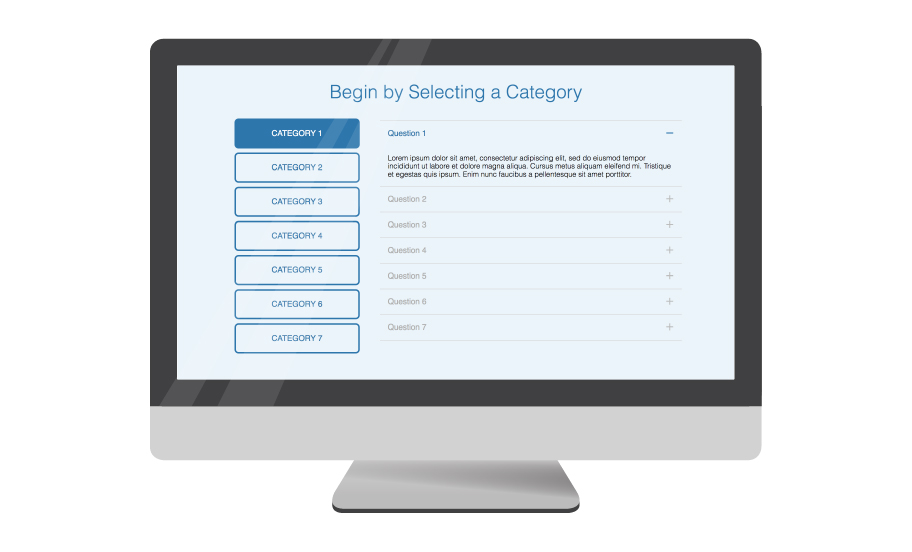 Fully responsive double nested FAQ toggle