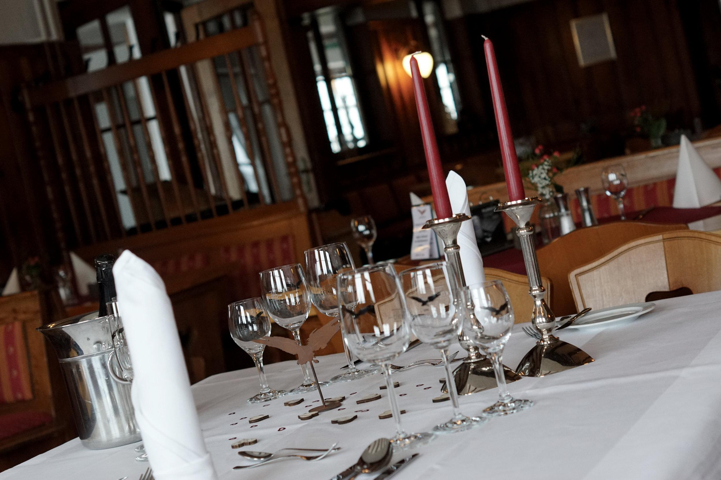 Romantisches Dinner im LMH