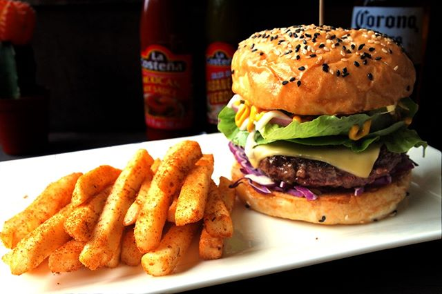 Forget about work and give yourselves a midweek treat with our Signature Spruce Burger - Classic Toasted Sesame Bun, Juicy Hand Made Beef Patty topped with gooey cheese, crisp lettuce, onion rings and our house made sauce for that extra oomph!  #hungry #foodiessg #singapore #bukittimah #oldfirestation #thirsty #eat #drink #sg2018 #westsg #westsidesg #eatsg #foodporn #foodsg #steaks #burgers #burger #cheese #beef #beefy #foodie #juicy