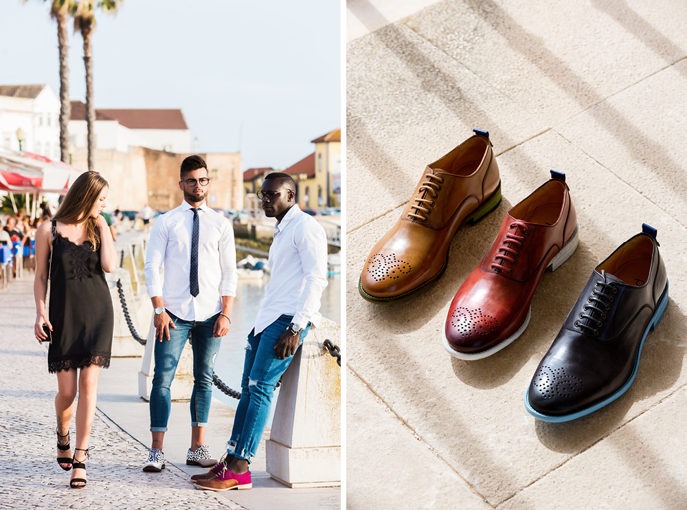 brand fashion editorial for Pintta, luxury men's shoes made in Portugal
