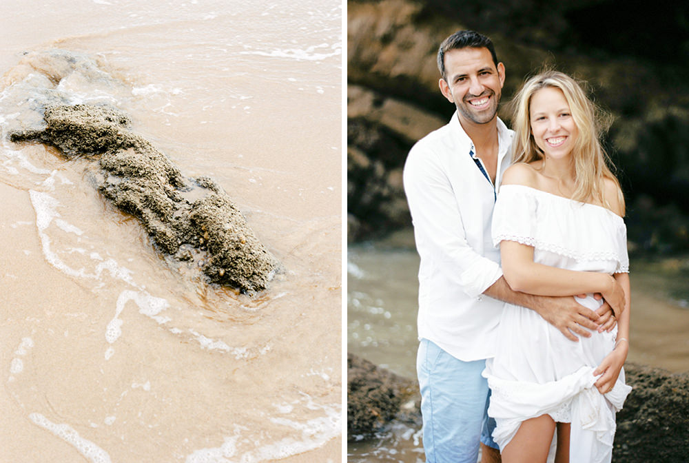 beach engagement film photography in Sagres in Algarve