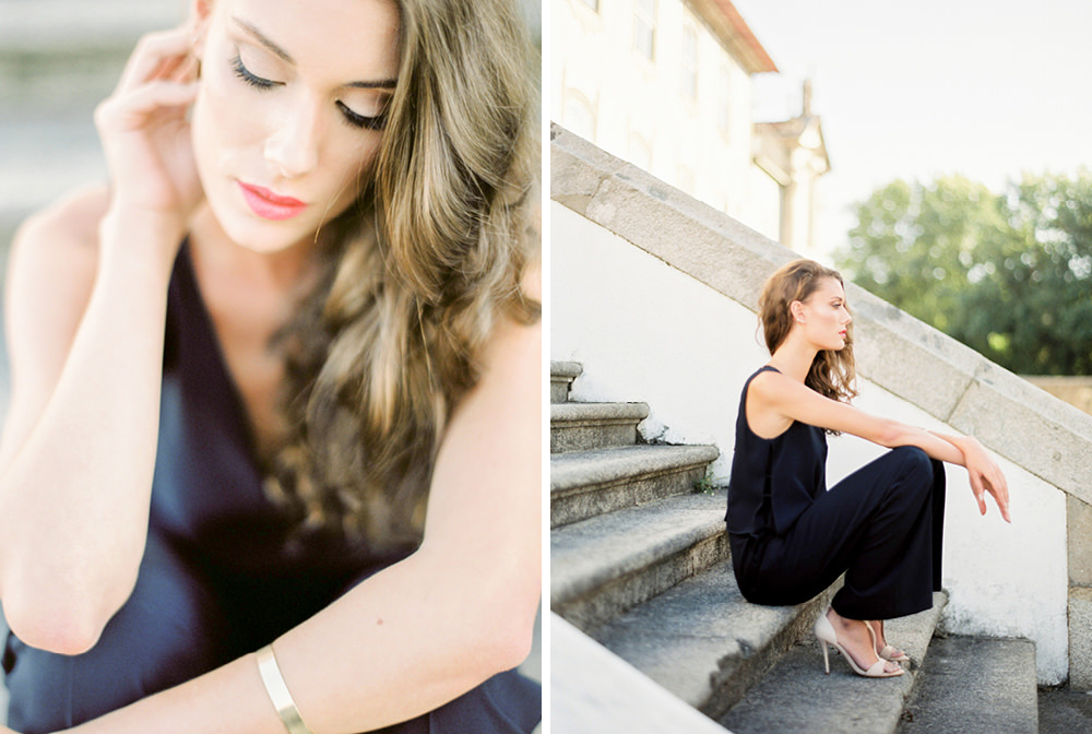 wedding fashion editorial in Oporto, Portugal