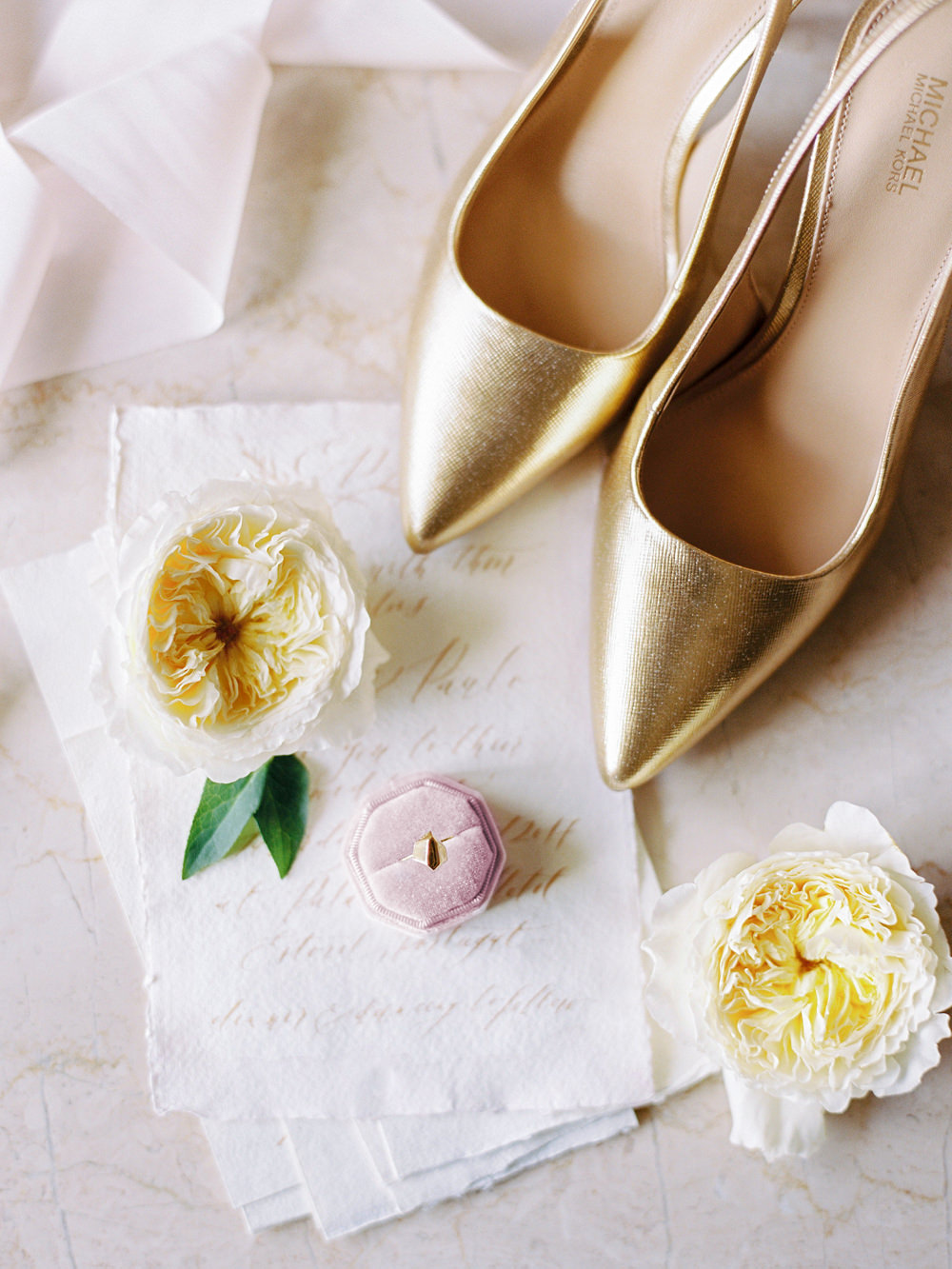 wedding stationery and shoes