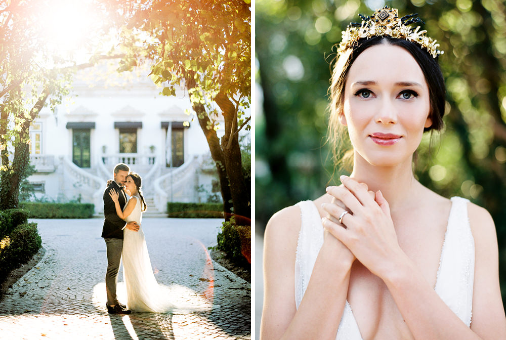 film fineart wedding photography bride and groom