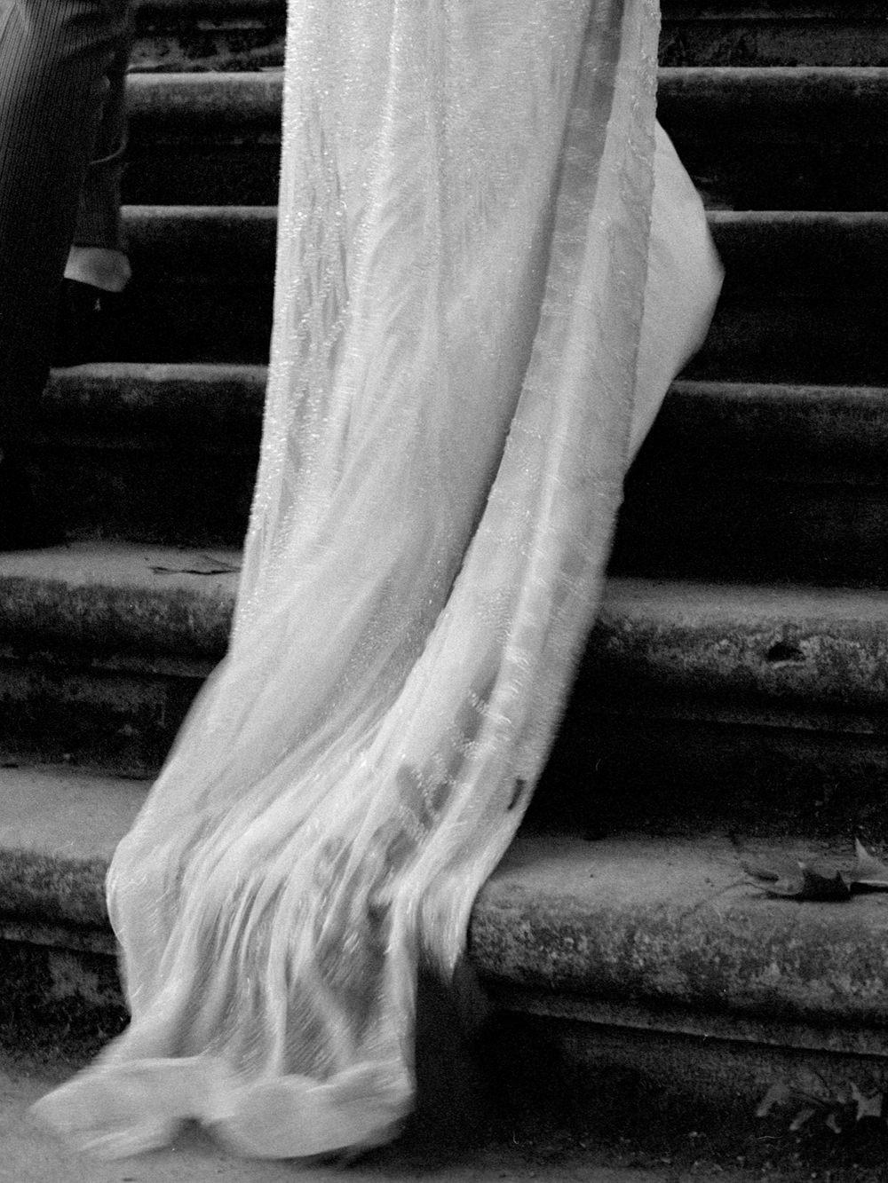 film fineart wedding photography bride dress