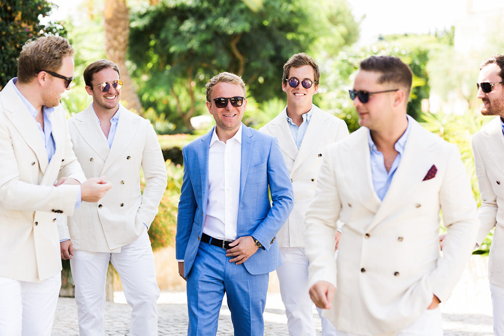 portugal fineart wedding photography groomsmen portrait