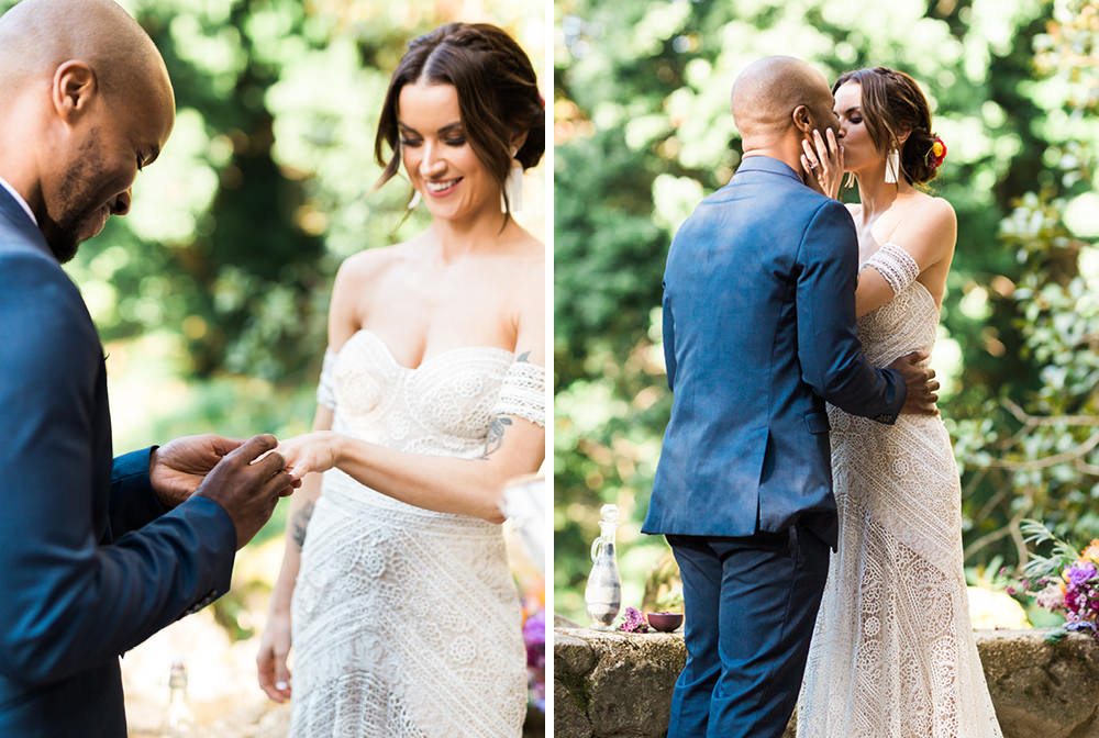 Elopement Ceremony in Palace of Monserrate in Sintra, Portugal