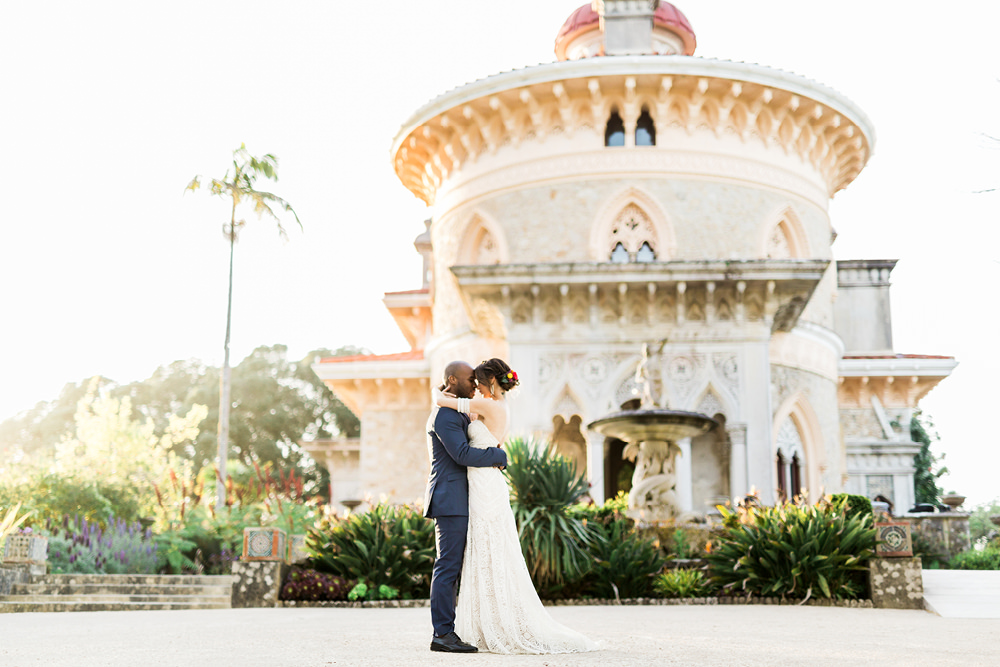 Elopement Couple Session in Palace of Monserrate in Sintra, Portugal