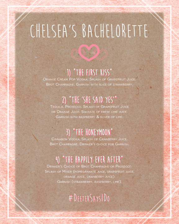 Bachelorette Party / Cocktail Menu