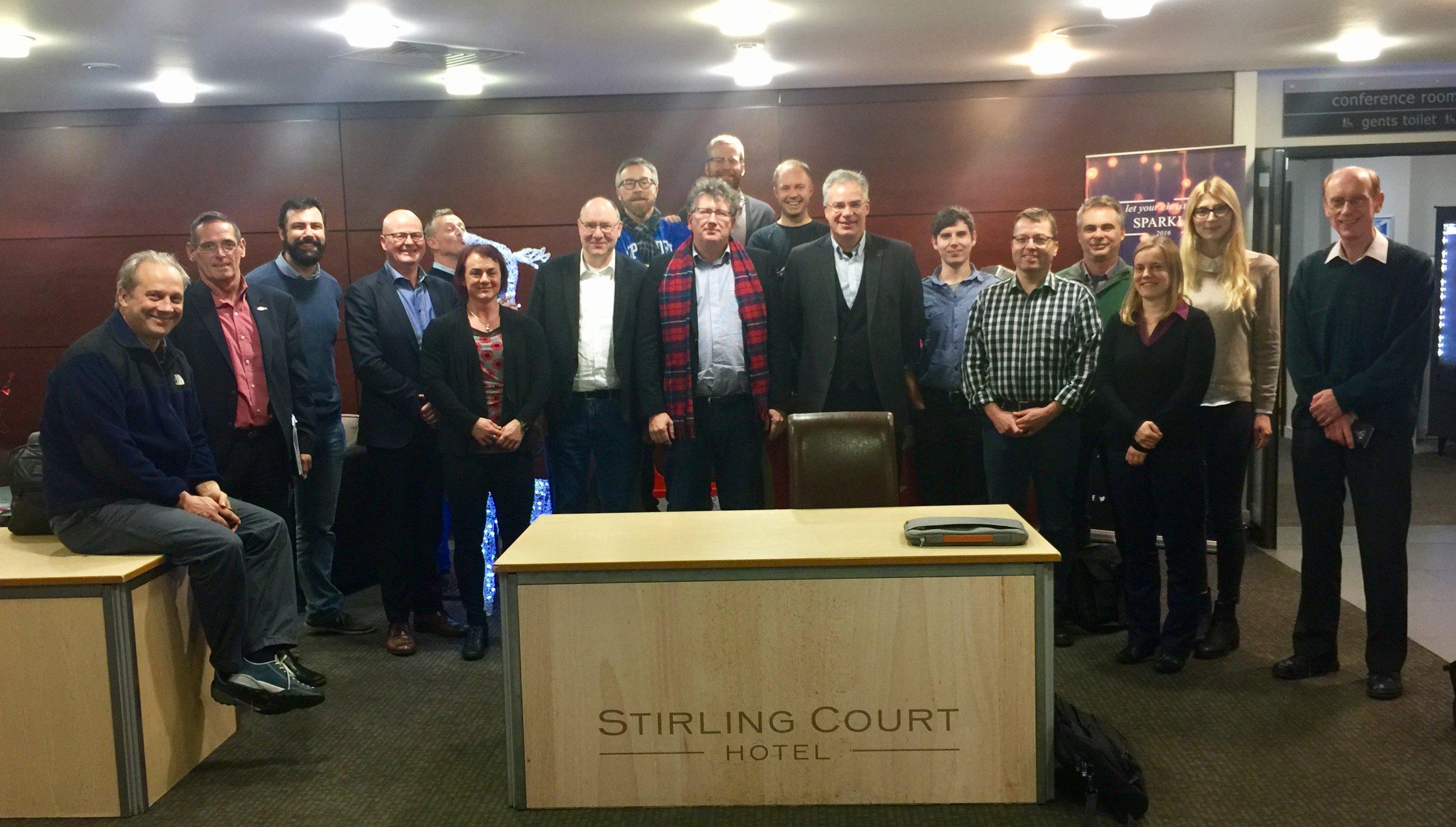 Members of PrimeFish Workpackage 3 meeting in Stirling