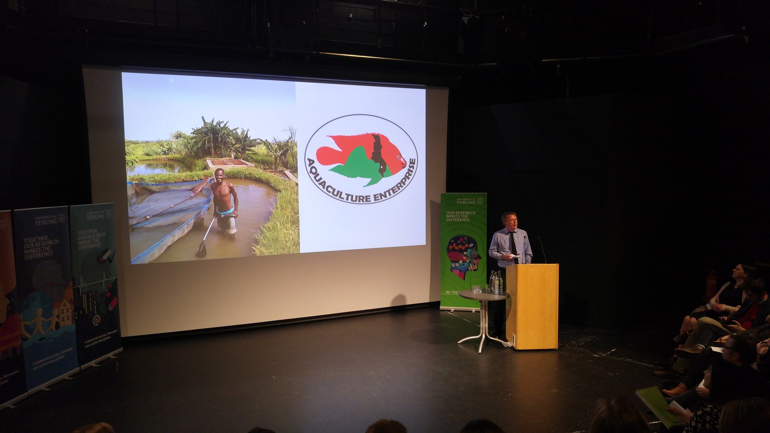 William Leschen presented work in Malawi supported by the Scottish Government