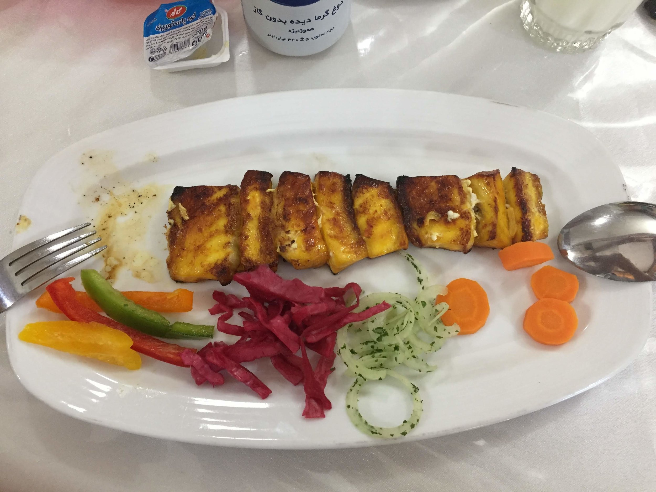 Delicious locally produced sturgeon dish in Bandar Abbas.