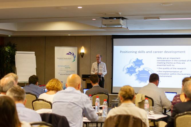 John Bostock presenting at the EATIP meeting (Photo credit Maurine Toussaint)