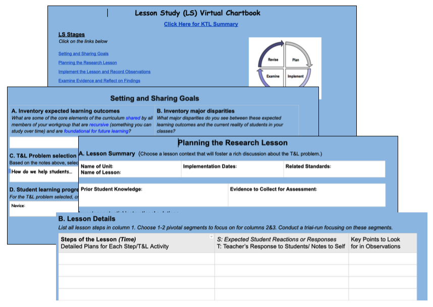 Example Excerpt from the Lesson Study Virtual Chartbook