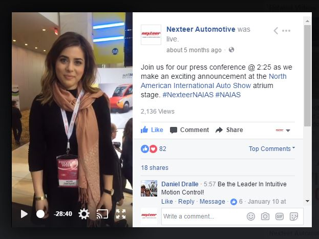Facebook Live video I produced for the event.