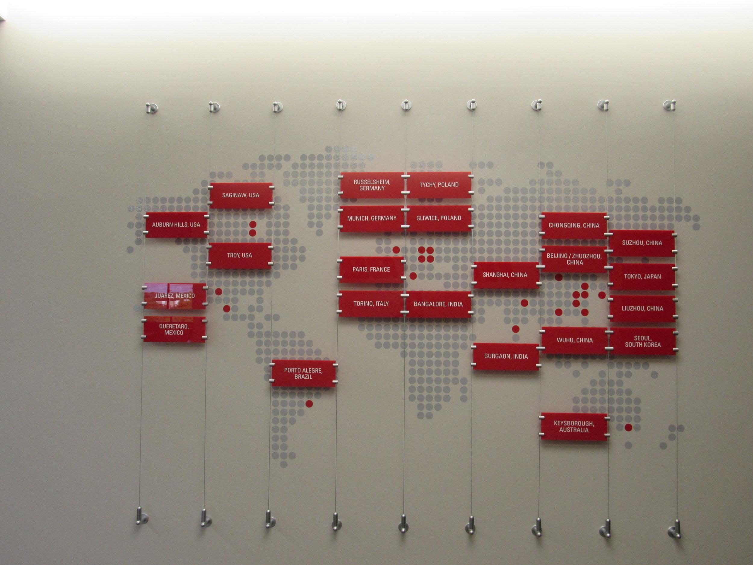 Global Location Map Outside Boardroom