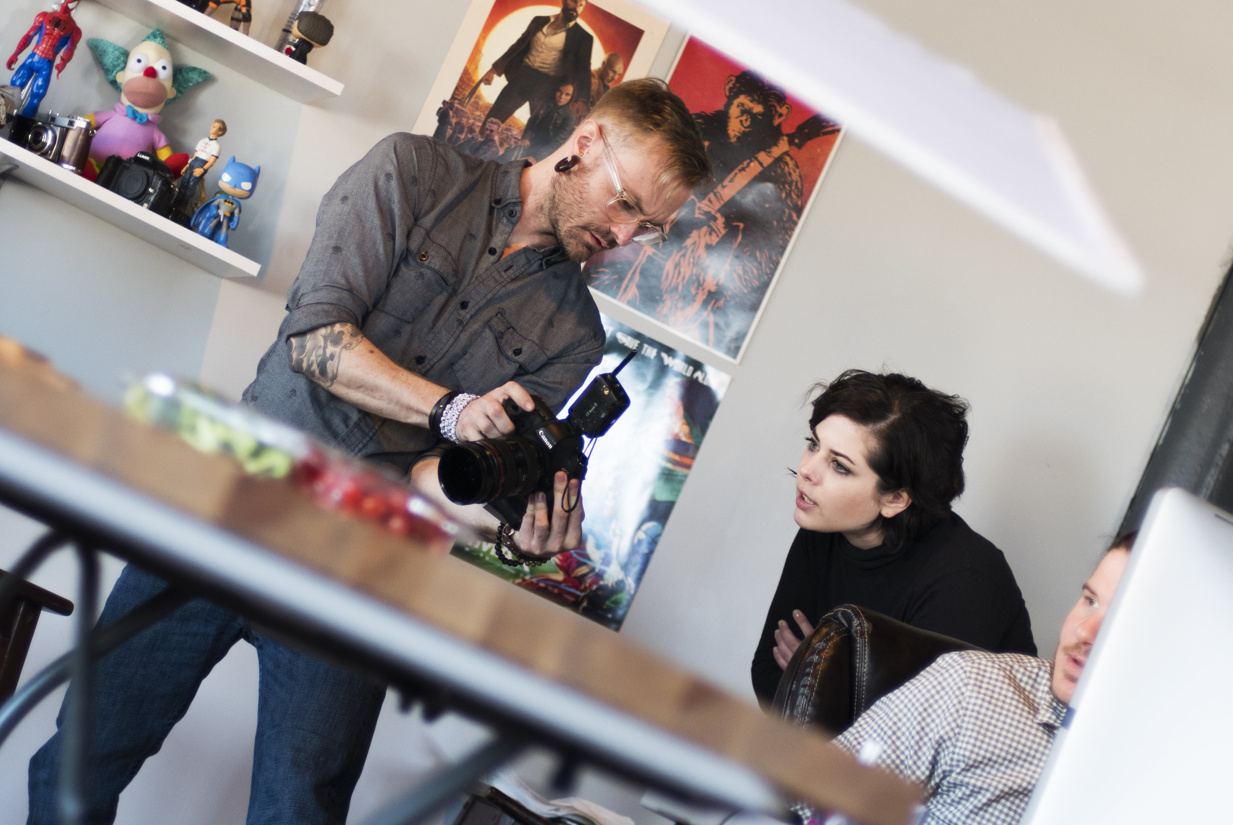 Directing the stock food photography shoot - I had the privilege of working with Allied Productions team to bring my vision for our food photography to life.(Image Courtesy of Allied Productions, pictured: Aaron McGrane &myself)