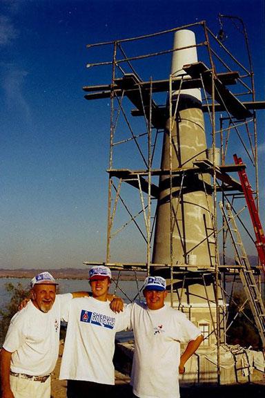 From left: Raymond Lichon (grandfather), Steven Matt, John Lichon (uncle). 2002.