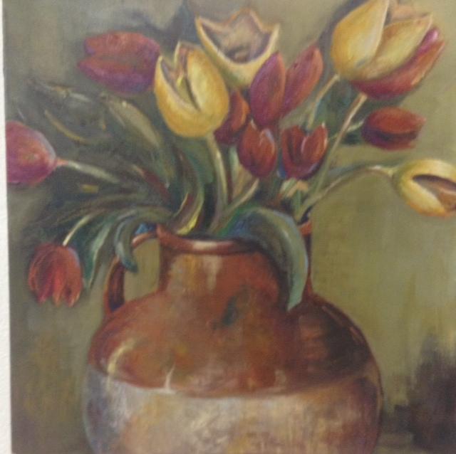 Flowers in vase (Sold)