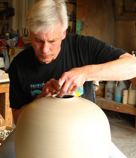 Spinning some new Raku pottery