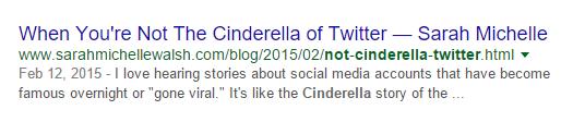 Cinderella of Twitter Blog Post Audit URL