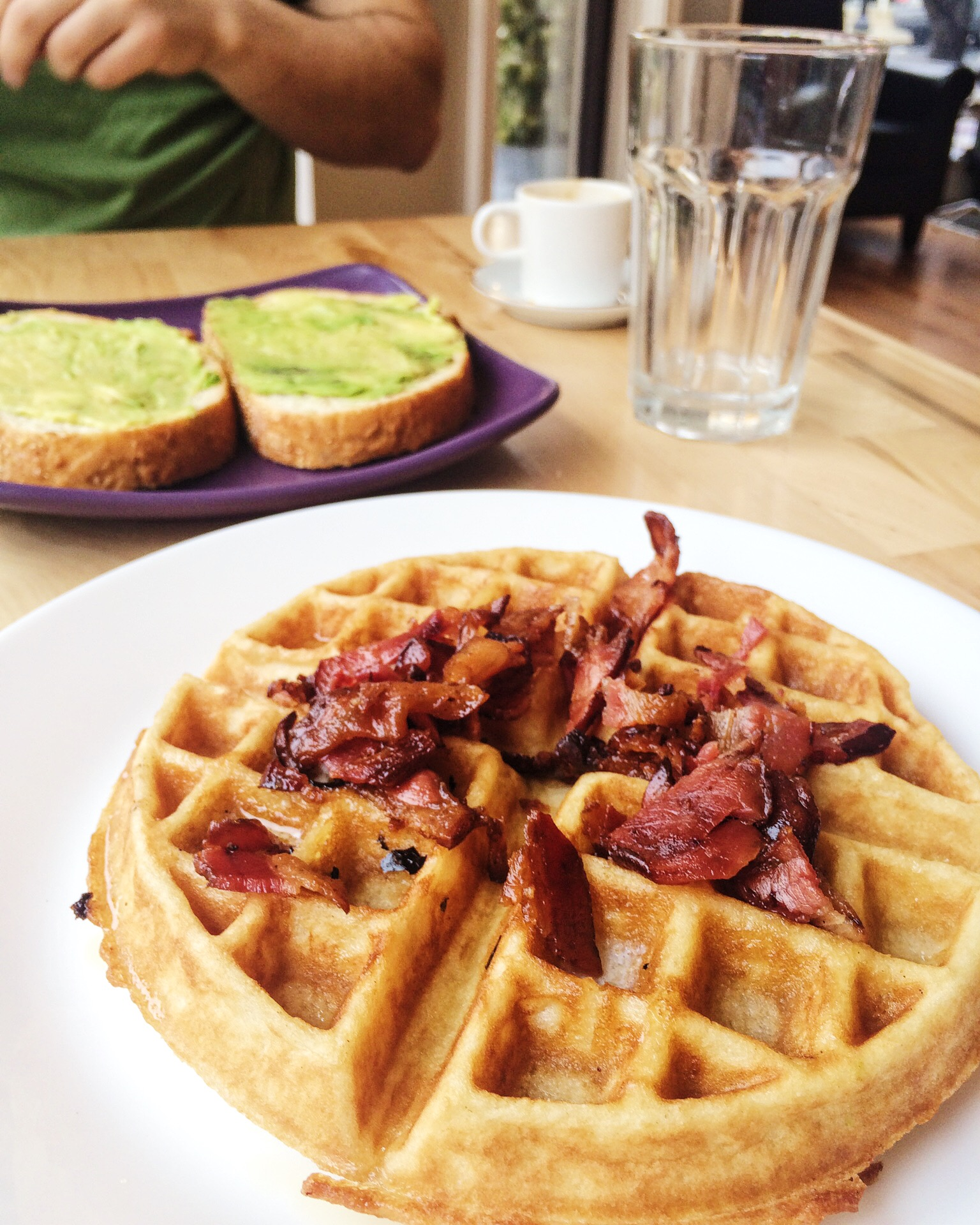 Maple Bacon Belgian Waffles at Commonwealth on Queen