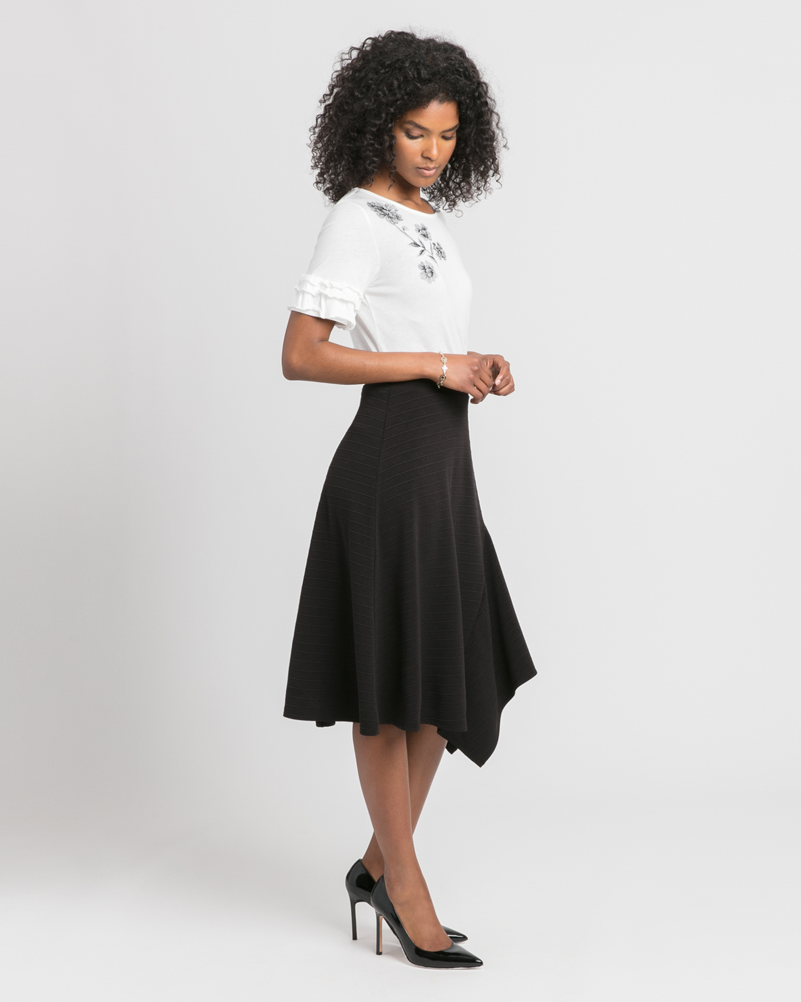 Asymmetrical Midi Skirt Black SIde Ivanka Trump.jpg