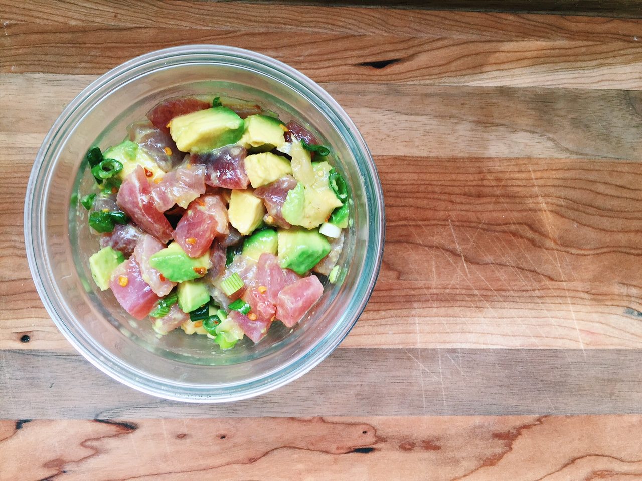 ahi poke salad avocado