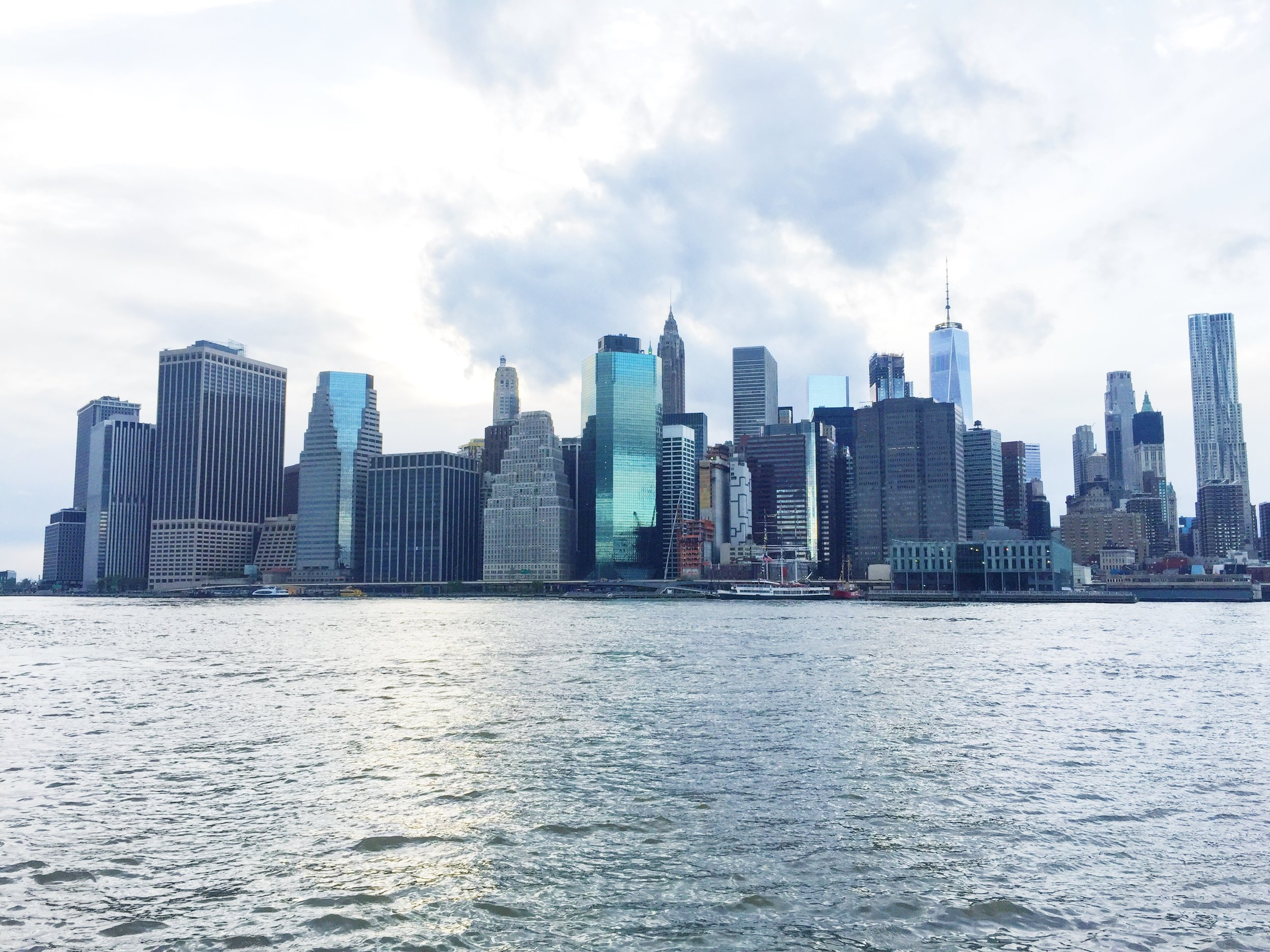 of course, the iconic skyline of NYC