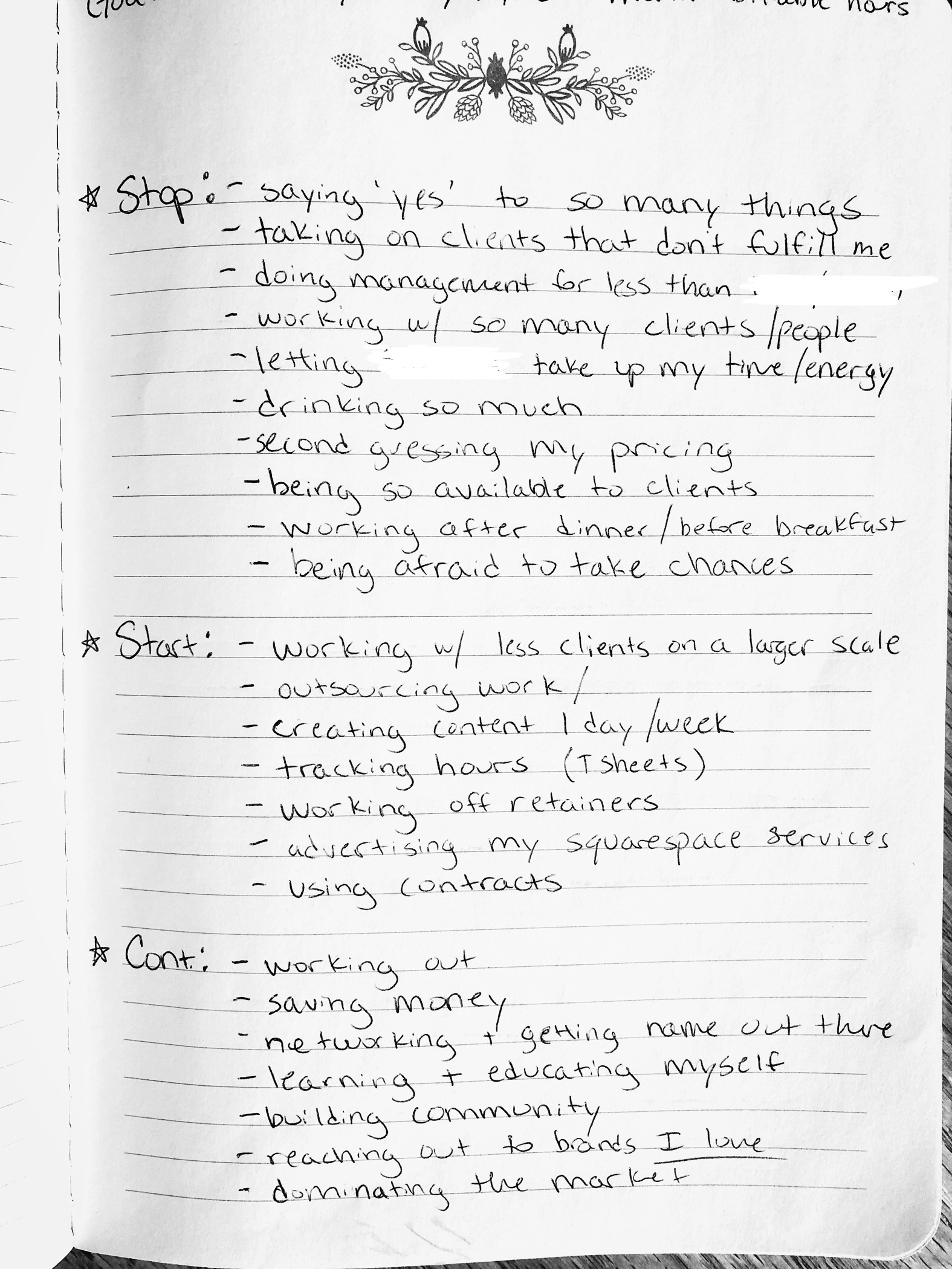 start stop and continue method to start doing more of what you love