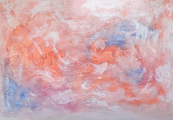 Spring , acrylic and chalk on foam board, 54″ x 36″, 2014